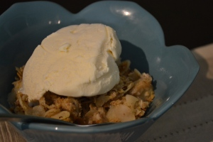 Pear Crumble with Lemon and Nutmeg