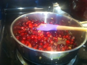 cranberries and ginger mixture