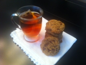 tea and coconut chocolate chip cookie