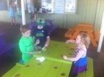 Kids enjoying their Shave Ice