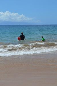 Boogie boarding in Maui