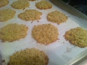 Freshly baked haystack blondies