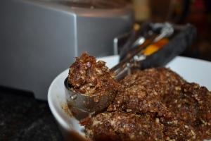 Orange DatePecan Cookies - Scooping up the Dough