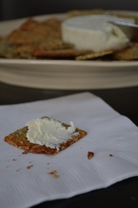 Seedy Sweet Potato Cracker with Boursin