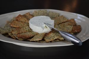 Seedy Sweet Potato Cracker Platter
