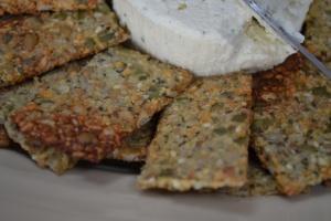 Seedy Sweet Potato Cracker Close-Up