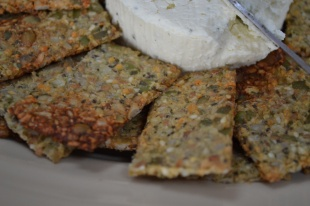 Seedy Sweet Potato Cracker Close-Up